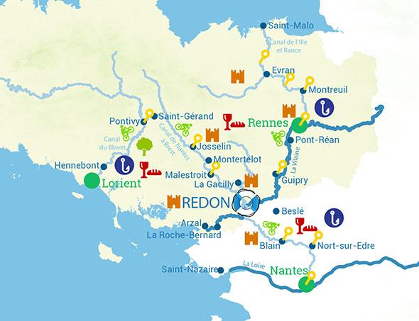 Itinéraires croisière fluviale bretagne