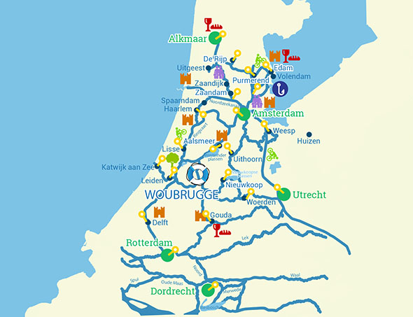 Carte Hollande Touristique.Croisiere Fluviale Aux Coeur Des Pays Bas